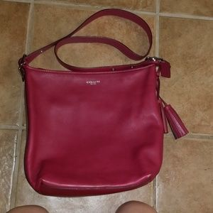 Red Coach bag